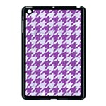 HOUNDSTOOTH1 WHITE MARBLE & PURPLE DENIM Apple iPad Mini Case (Black) Front