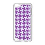 HOUNDSTOOTH1 WHITE MARBLE & PURPLE DENIM Apple iPod Touch 5 Case (White) Front