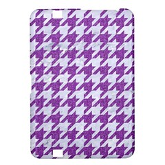 Houndstooth1 White Marble & Purple Denim Kindle Fire Hd 8 9