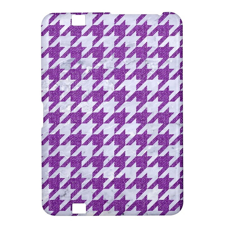 HOUNDSTOOTH1 WHITE MARBLE & PURPLE DENIM Kindle Fire HD 8.9