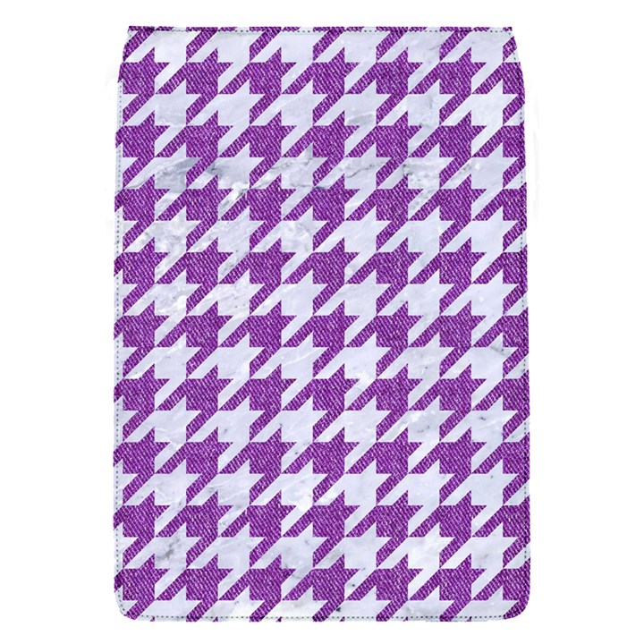 HOUNDSTOOTH1 WHITE MARBLE & PURPLE DENIM Flap Covers (S)