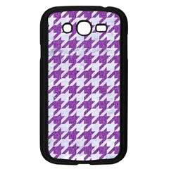 Houndstooth1 White Marble & Purple Denim Samsung Galaxy Grand Duos I9082 Case (black)