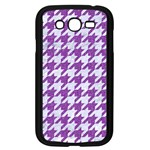 HOUNDSTOOTH1 WHITE MARBLE & PURPLE DENIM Samsung Galaxy Grand DUOS I9082 Case (Black) Front