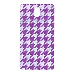HOUNDSTOOTH1 WHITE MARBLE & PURPLE DENIM Samsung Galaxy Note 3 N9005 Hardshell Back Case Front