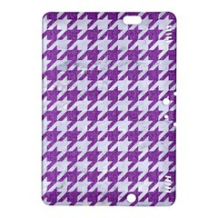 Houndstooth1 White Marble & Purple Denim Kindle Fire Hdx 8 9  Hardshell Case