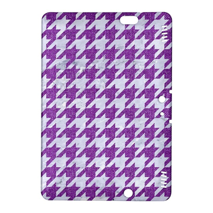 HOUNDSTOOTH1 WHITE MARBLE & PURPLE DENIM Kindle Fire HDX 8.9  Hardshell Case