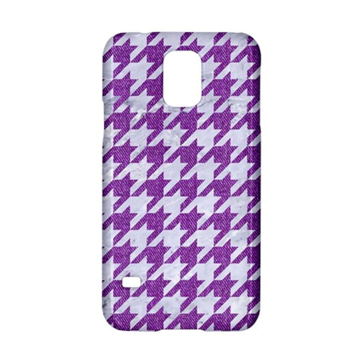 HOUNDSTOOTH1 WHITE MARBLE & PURPLE DENIM Samsung Galaxy S5 Hardshell Case