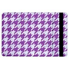 Houndstooth1 White Marble & Purple Denim Ipad Air 2 Flip by trendistuff