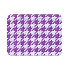 Houndstooth1 White Marble & Purple Denim Double Sided Flano Blanket (mini)