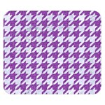 HOUNDSTOOTH1 WHITE MARBLE & PURPLE DENIM Double Sided Flano Blanket (Small)  50 x40 Blanket Back