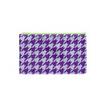 HOUNDSTOOTH1 WHITE MARBLE & PURPLE DENIM Cosmetic Bag (XS) Front