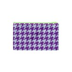 HOUNDSTOOTH1 WHITE MARBLE & PURPLE DENIM Cosmetic Bag (XS) Back