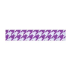 Houndstooth1 White Marble & Purple Denim Flano Scarf (mini)