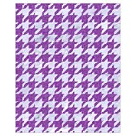 HOUNDSTOOTH1 WHITE MARBLE & PURPLE DENIM Drawstring Bag (Small) Front