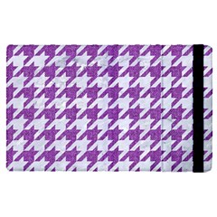 Houndstooth1 White Marble & Purple Denim Apple Ipad Pro 9 7   Flip Case