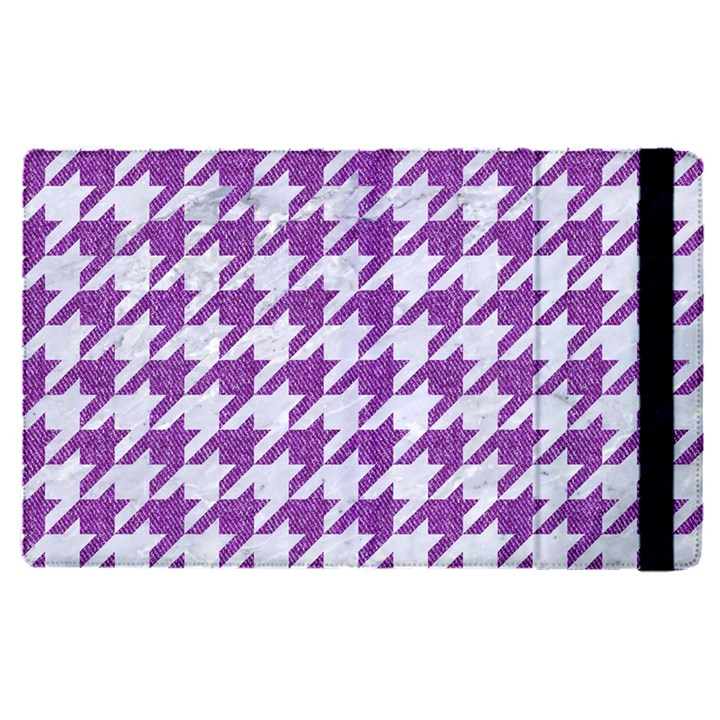 HOUNDSTOOTH1 WHITE MARBLE & PURPLE DENIM Apple iPad Pro 9.7   Flip Case