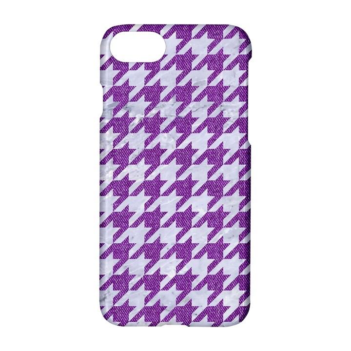 HOUNDSTOOTH1 WHITE MARBLE & PURPLE DENIM Apple iPhone 7 Hardshell Case