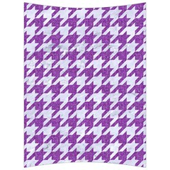 Houndstooth1 White Marble & Purple Denim Back Support Cushion by trendistuff