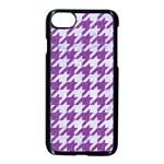 HOUNDSTOOTH1 WHITE MARBLE & PURPLE DENIM Apple iPhone 8 Seamless Case (Black) Front