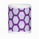 HEXAGON2 WHITE MARBLE & PURPLE DENIM (R) Morph Mugs Center