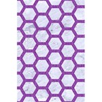 HEXAGON2 WHITE MARBLE & PURPLE DENIM (R) 5.5  x 8.5  Notebooks Front Cover