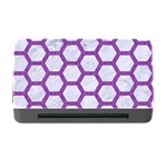 HEXAGON2 WHITE MARBLE & PURPLE DENIM (R) Memory Card Reader with CF Front
