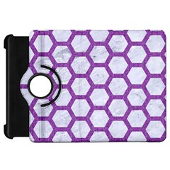 Hexagon2 White Marble & Purple Denim (r) Kindle Fire Hd 7