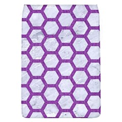Hexagon2 White Marble & Purple Denim (r) Flap Covers (l)