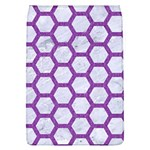 HEXAGON2 WHITE MARBLE & PURPLE DENIM (R) Flap Covers (L)  Front