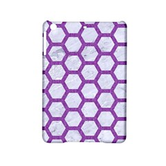 Hexagon2 White Marble & Purple Denim (r) Ipad Mini 2 Hardshell Cases