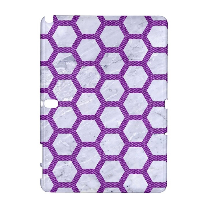 HEXAGON2 WHITE MARBLE & PURPLE DENIM (R) Galaxy Note 1