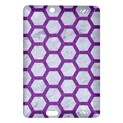 Hexagon2 White Marble & Purple Denim (r) Amazon Kindle Fire Hd (2013) Hardshell Case by trendistuff
