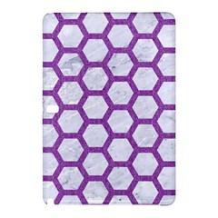 Hexagon2 White Marble & Purple Denim (r) Samsung Galaxy Tab Pro 10 1 Hardshell Case