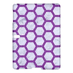 Hexagon2 White Marble & Purple Denim (r) Samsung Galaxy Tab S (10 5 ) Hardshell Case