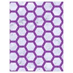 HEXAGON2 WHITE MARBLE & PURPLE DENIM (R) Drawstring Bag (Large) Back