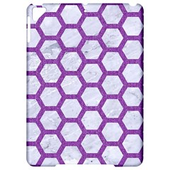 Hexagon2 White Marble & Purple Denim (r) Apple Ipad Pro 9 7   Hardshell Case