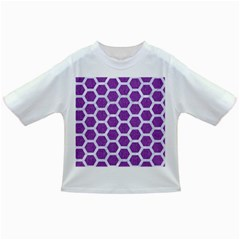 Hexagon2 White Marble & Purple Denim Infant/toddler T Shirts by trendistuff
