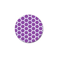 Hexagon2 White Marble & Purple Denim Golf Ball Marker (10 Pack)