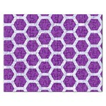 HEXAGON2 WHITE MARBLE & PURPLE DENIM Rectangular Jigsaw Puzzl Front