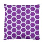 HEXAGON2 WHITE MARBLE & PURPLE DENIM Standard Cushion Case (Two Sides) Front