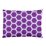 HEXAGON2 WHITE MARBLE & PURPLE DENIM Pillow Case 26.62 x18.9 Pillow Case
