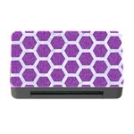 HEXAGON2 WHITE MARBLE & PURPLE DENIM Memory Card Reader with CF Front