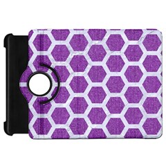 Hexagon2 White Marble & Purple Denim Kindle Fire Hd 7