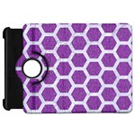 HEXAGON2 WHITE MARBLE & PURPLE DENIM Kindle Fire HD 7  Front