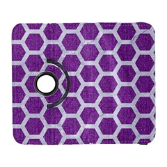 Hexagon2 White Marble & Purple Denim Galaxy S3 (flip/folio) by trendistuff