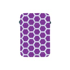 Hexagon2 White Marble & Purple Denim Apple Ipad Mini Protective Soft Cases