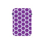 HEXAGON2 WHITE MARBLE & PURPLE DENIM Apple iPad Mini Protective Soft Cases Front