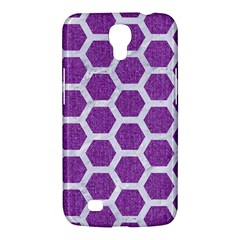 Hexagon2 White Marble & Purple Denim Samsung Galaxy Mega 6 3  I9200 Hardshell Case