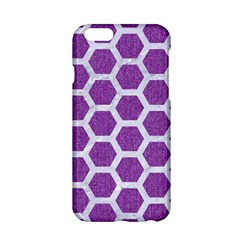 Hexagon2 White Marble & Purple Denim Apple Iphone 6/6s Hardshell Case by trendistuff