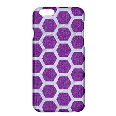 Hexagon2 White Marble & Purple Denim Apple Iphone 6 Plus/6s Plus Hardshell Case by trendistuff
